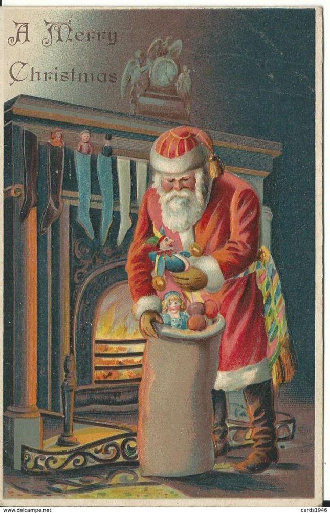 4bbf5f21117e25637e38d4d0ce4a96c2--vintage-santas-vintage-christmas-cards
