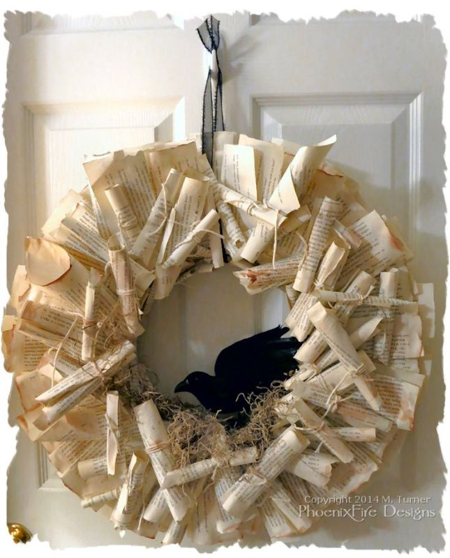 80c1c8b664310e8fbe1576388d87a15f--ravens-wreath-book-page-wreath.jpg