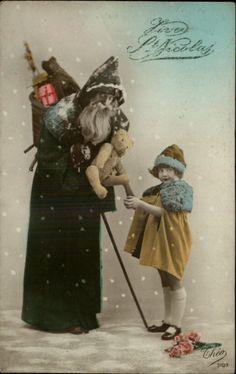 5205e9b6be9b855280995a83821f2704--vintage-santas-vintage-christmas