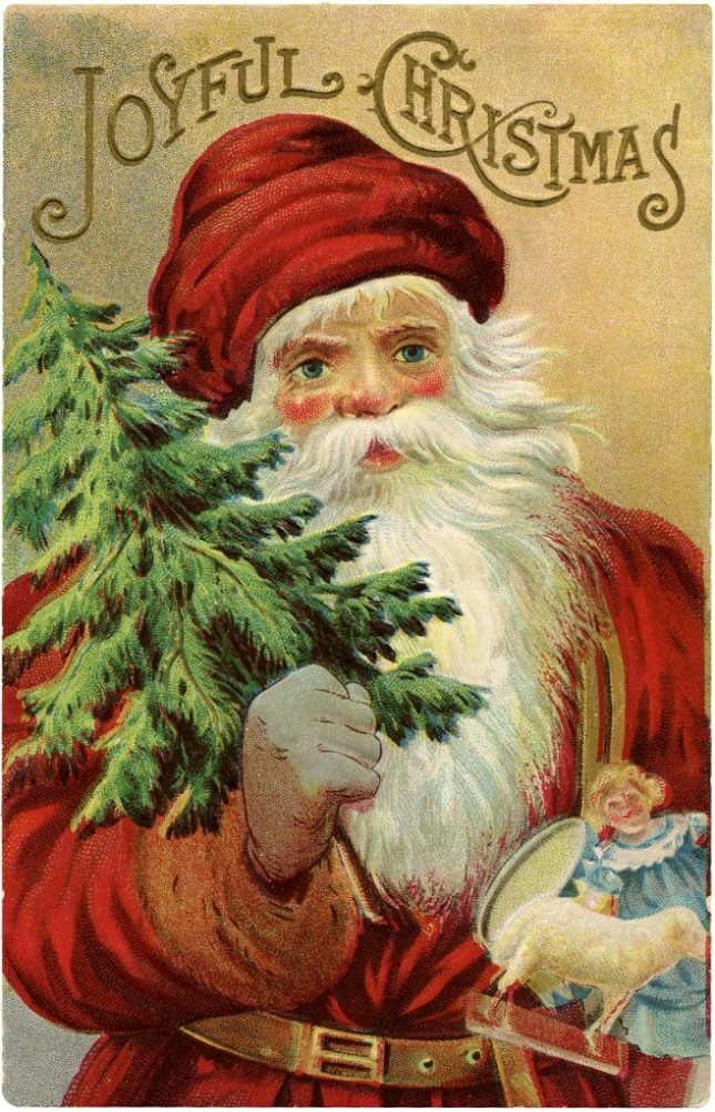Vintage-Christmas-Santa-Image-GraphicsFairy-658x1024