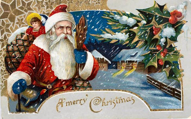 vintage-santa-claus-clip-art-holly-snow