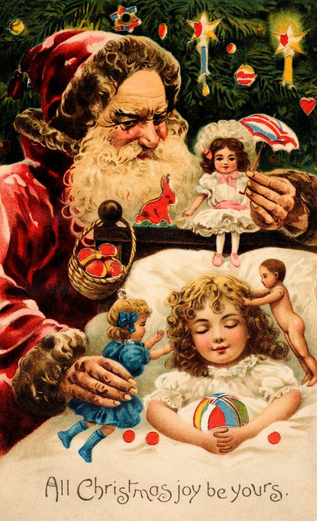Vintage Sinister Santa Christmas Card (1)