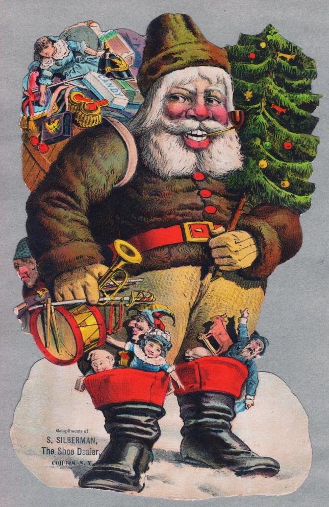 Vintage Sinister Santa Christmas Card (2)