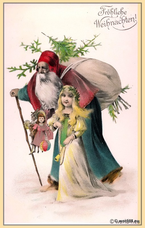 vintage_christmas_card_santa_claus_angel
